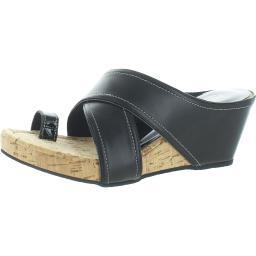Donald J. Pliner Womens Geo Leather Slip On Slide Sandals
