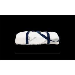 SailorBags 350WB Chesapeake Yoga Bag, White with Blue Trim
