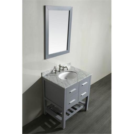 Bosconi SB-250-1GR 30 in. Single Bathroom Vanity, Gray - 29.2 x 20.5 x 32.9 in.