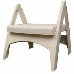 Adams Manufacturing 8530-48-3700 Quik-Foldâ® Step Stool White