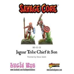 Warlord Games WRLSC36 Savage Core Jaguar Tribe Chief & Son, Set of 2