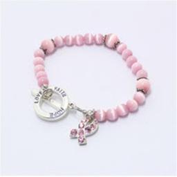 Best Desu 17978 Breast Cancer Awareness Bracelet - Hope, Love & Faith