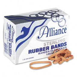 Alliance 24645 Sterling Ergonomically Correct Rubber Bands  #64  1/4 x 3-1/2  440 per 1lb Box
