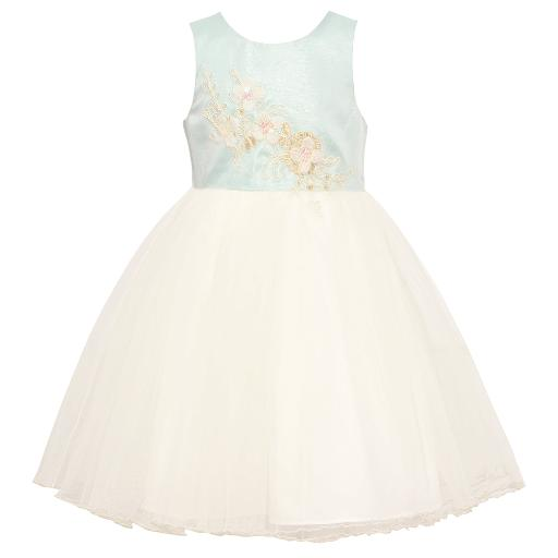 7f0766a15 Bonnie Jean Baby Girls Blue Embroidered Knee-Length Easter Dress 12-24M