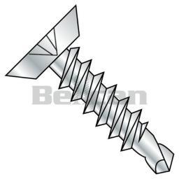 Shorpioen 1008KPU 10 x 0.5 Phillips Flat Undercut Fully Threaded Self Drilling Screw - Zinc - Box of 10000 1008KPU