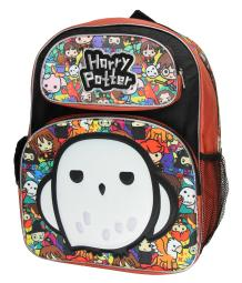 """Harry Potter Pride 3d Hedwig Chibi Characters 16"""" Large Backpack School Bag"""