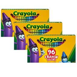 Crayola llc 3 bx crayola 96ct crayons per 520096bn