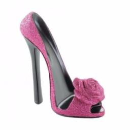 Accent Plus 10017721 Rose Shoe Phone Holder, Pink