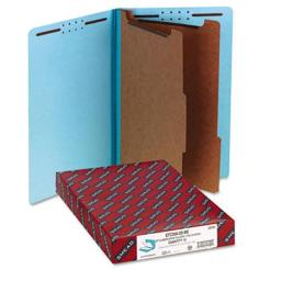 Smead 29781 Pressboard End Tab Classification Folders  Legal  6-Section  BE  10/box