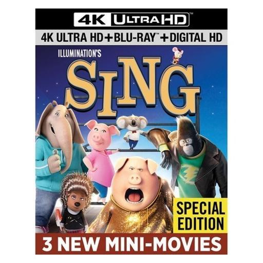 Sing (blu ray/4kuhd/ultraviolet/digital hd
