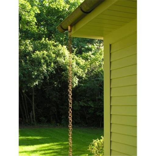 Double Loop Copper Rain Chain