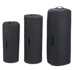Black Side Zipper Canvas Duffle Bags