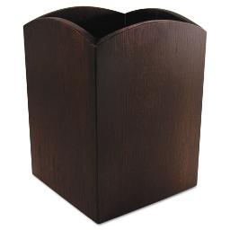Bamboo Curved Pencil Cup 3 X 3 4 1/4 Espresso Brown   Total Quantity: 1