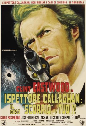 Dirty Harry Clint Eastwood On Italian Poster Art 1971 Movie Poster Masterprint