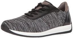 ara Men's Louie Sneaker, Black/Multi Woven, 43 M EU (9-9.5 US)