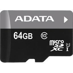 A-Data Technology (Usa) Co., L Ausdx64Guicl10-Ra1 Adata Premier 64Gb Microsdhc/Sdxc Uhs-I U1 Memory Card With Adapter