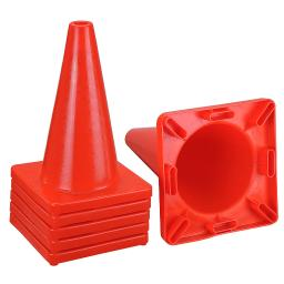 """Yescom 18"""" Height Red PVC Safety Plastic Traffic Cones without Collar Set of 6pcs"""
