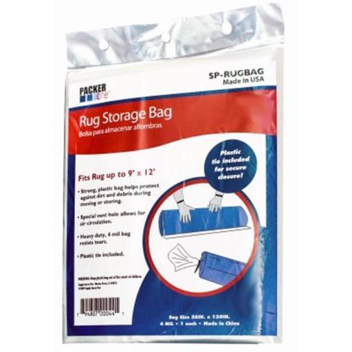 Schwarz Supply Source 215532 26 x 130 in. Rug Storage Bag, Clear
