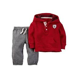 Carter's Baby Boys' 2 Piece Holiday Set (Baby) - Red - 3 Months