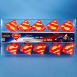 Superman Logo Christmas Lights Strand String Super Hero Man Steel Insignia
