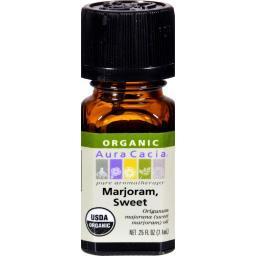 Aura Cacia Organic Essential Oil - Marjoram Sweet - .25 Oz
