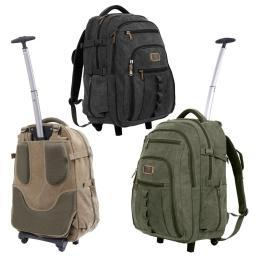 Rothco Wheeled Rolling Canvas Backpack w/Telescoping Handle & Laptop Compartment 20055