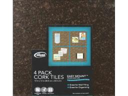 Tbd82 brd dudes cork tile 3 8x12x12 dark 4pc