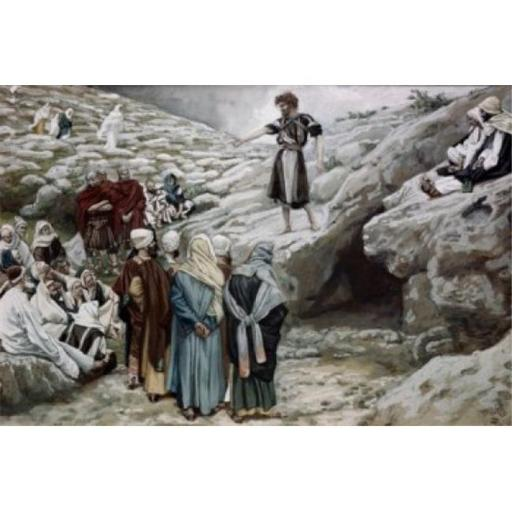 Posterazzi SAL9999947 John the Baptist & the Pharisees James Tissot 1836-1902 French Jewish Museum New York City Poster Print - 18 x 24 in.