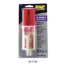 Zapagap/ House Of Balsa Pt36 Z-Poxy 5 Minute - 1Oz Syringe