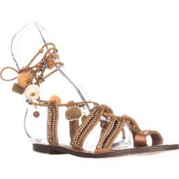 Sam Edelman Graciela Flat Lace-Up Sandals, Saddle Leather Graciela