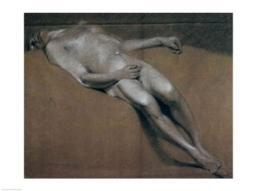 Study of a recumbent male nude Poster Print by John Constable BALBAL22373LARGE