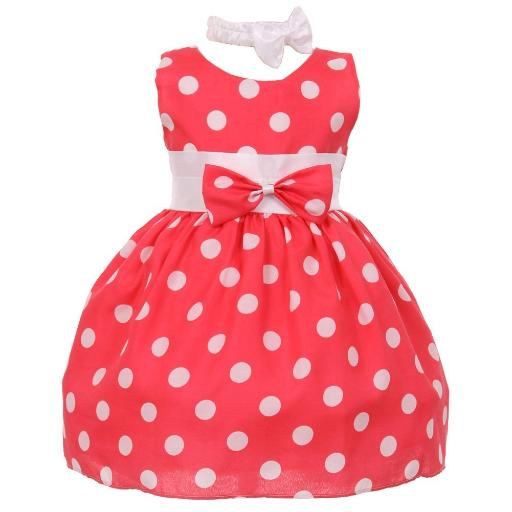 fba300a83 Shanil Inc. Baby Girls Pink White Polka Dot Bow Sash Headband ...
