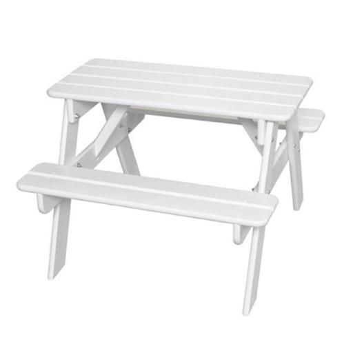 Little Colorado 144SW Childs Picnic Table, White