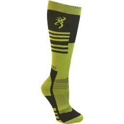 Browning a000286100204 bg unisex elm socks m/l black & green calf height
