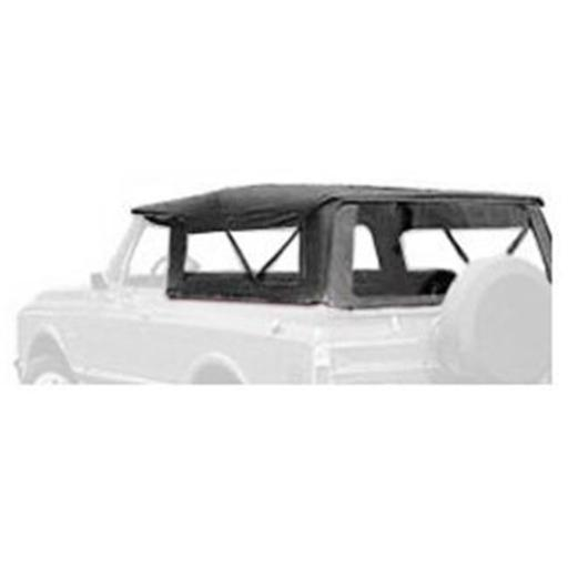 Bestop 51311-01 Tigertop Soft Top Clear Windows for 1967-1973 Jeep Jeepster, Black