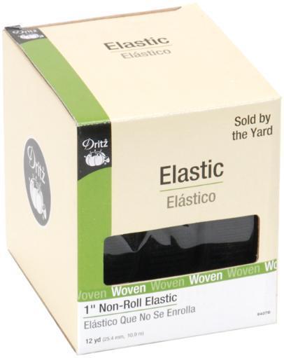 """Non-Roll Elastic 1""""X12yd-Black W2N50CSCG7TDA3J5"""