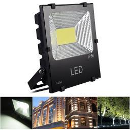DELight 50W LED Flood Light 5200LM Outdoor Garage Security Spotlight Cool White 6500K IP66 320W Halogen Bulb Equivalent