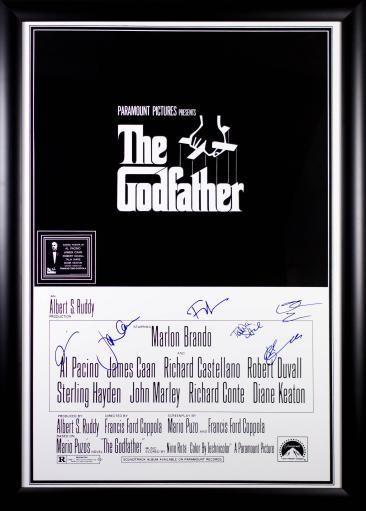 The Godfather - Signed Movie Poster in Wood Frame with COA