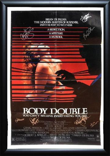 Body Double - Signed Movie Poster in Wood Frame with COA
