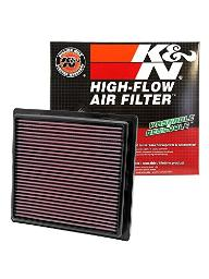 K&N 33-2457 High Performance Replacement Air Filter for 2011 Jeep Grand Cherokee/Dodge Durango 3.6L V6/5.7L V8 33-2457