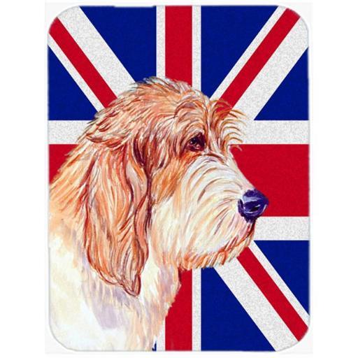 7.75 x 9.25 In. Petit Basset Griffon Vendeen Pbgv With English Union Jack British Flag Mouse Pad, Hot Pad Or Trivet
