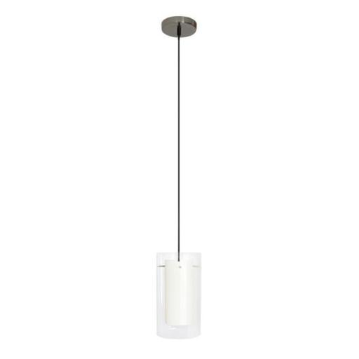 Efficient Lighting EL-506-113-CRM Contemporary 1-Light Pendant Fixture with Clear Outer Glass and Creme Inner Glass