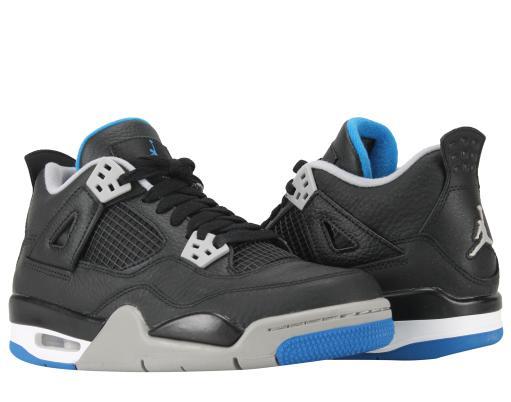 moda nowy styl niesamowity wybór Nike Air Jordan 4 Retro BG Motorsports Big Kids Basketball Shoes 408452-006
