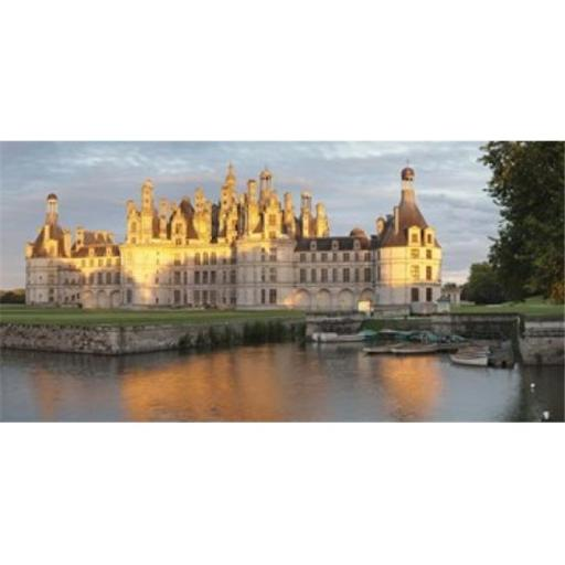 Castle at the waterfront Chateau Royal de Chambord Chambord Loire-Et-Cher Loire Valley Loire River Centre Region France Poster Print by - 36 x