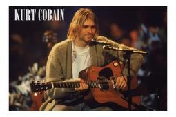 Kurt Cobain Unplugged Poster 36 x 24 Nirvana Rock Music Dave Grohl