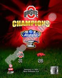 Ohio State Buckeyes Allstate Sugar Bowl Champions Composite Sports Photo PFSAANC23701