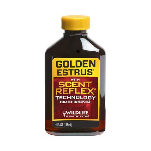 Wildlife research 4044 wrc deer lure golden estrus w/scent reflex tech 4fl oz.