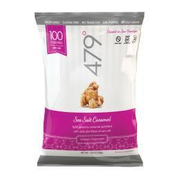 479 Degrees Artisan Popcorn - Sea Salt Caramel - Case of 24 - 1.25 oz.