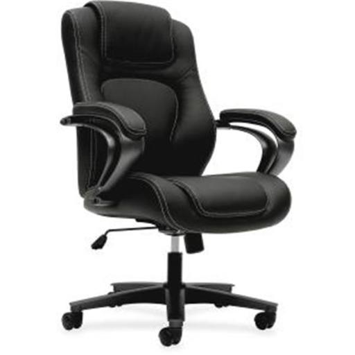 Basyx VL402EN11 Executive Vinyl High-Back Chair, Black