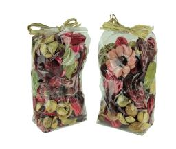 Double Bag Lot of Pomegranate Red and Brown Dried Botanical Decorative Filler